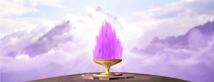 Violet Flame Chalice in the Tetons Mountains