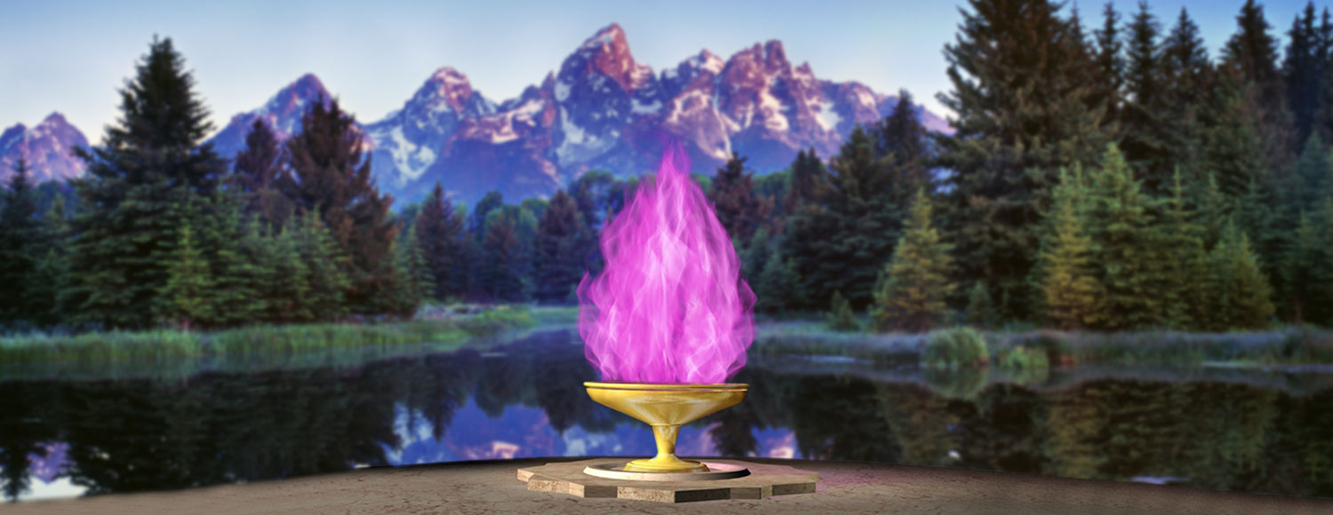 Violet Flame Chalice in the Grand Tetons Mountains