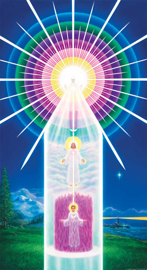 I AM Presence chart showing Tube of Light