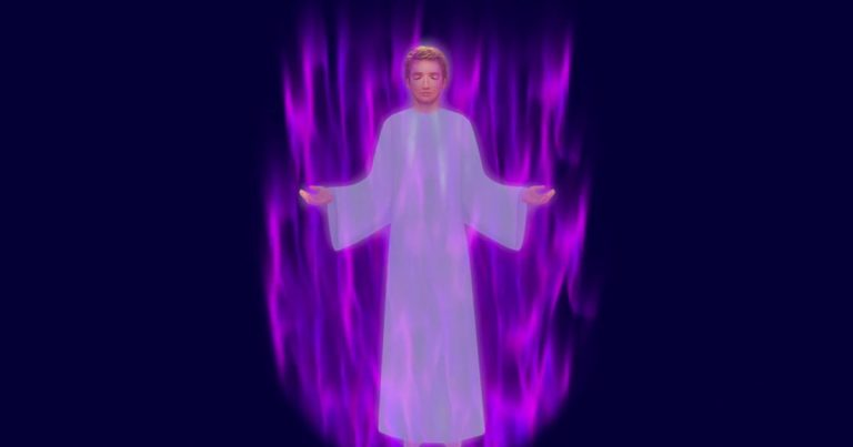 I AM a Being of Violet Fire Visualization