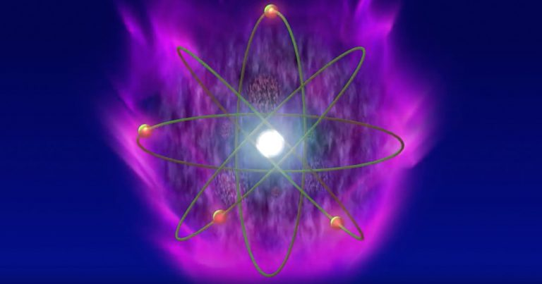 Atom Violet Flame Visualization